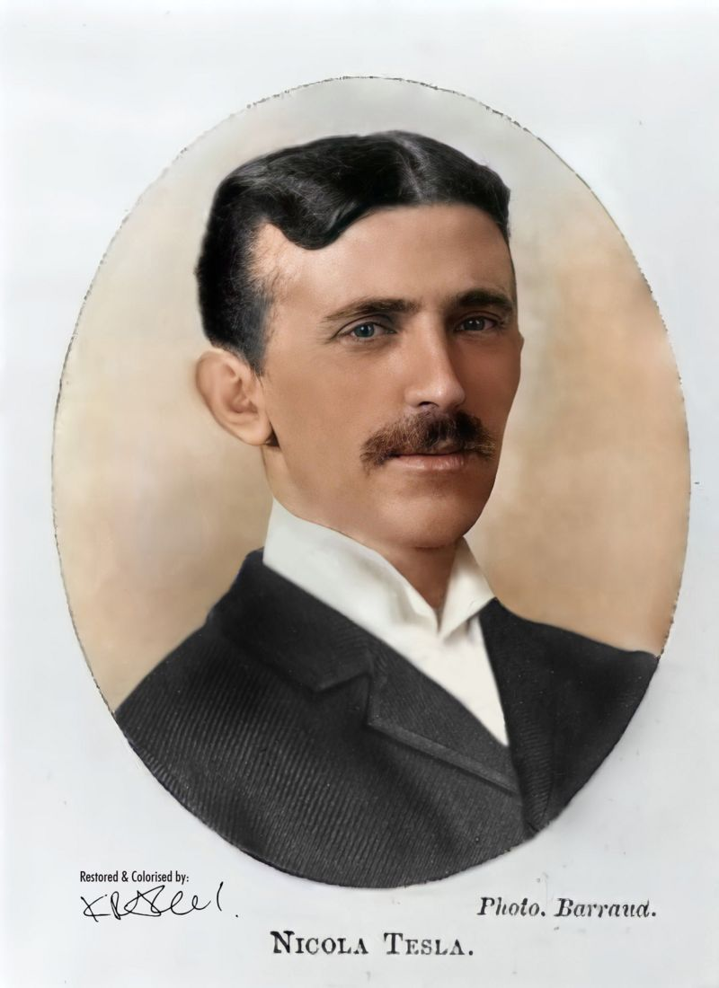 Никола Тесла 1885.